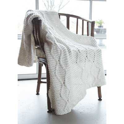 Chunky Cotton Hand Knit Diamond Throw