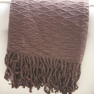 Wave Pleated Fringed Throw