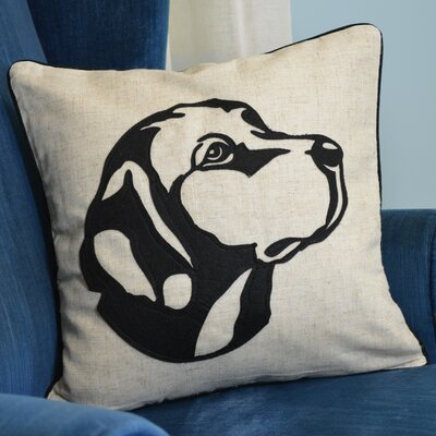 Faithful Companions Lab Dog Pillow Cover