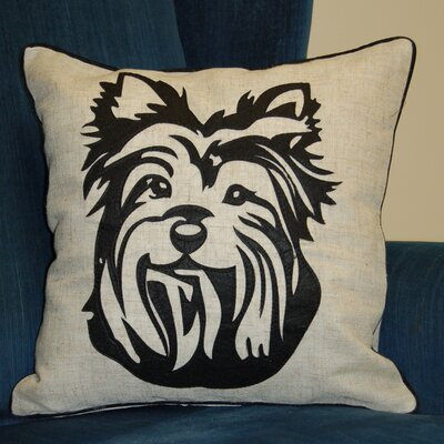 Faithful Companions Terrier Dog Pillow Cover