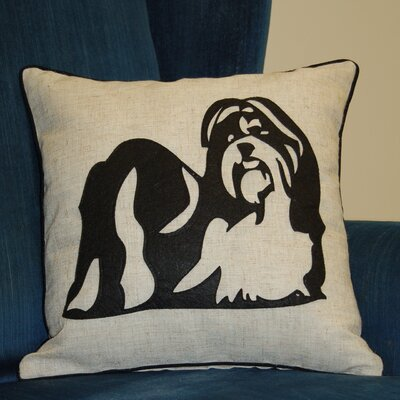 Faithful Companions Shih Tzu Dog Pillow Cover