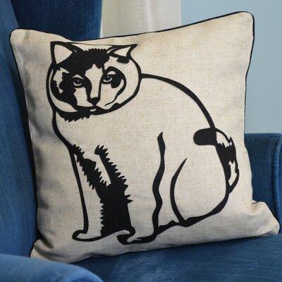 Faithful Companions Fat Cat Pillow Cover