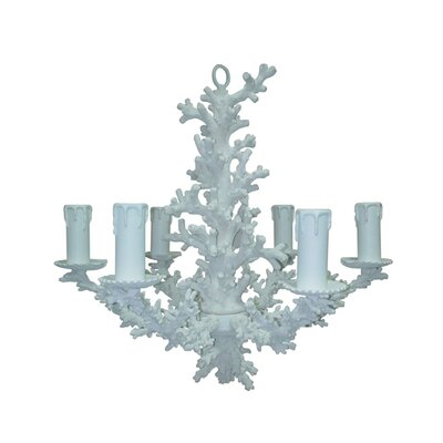 Snow Coral 6-Light Candle-Style Chandelier