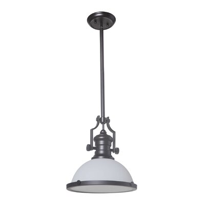 Brentwood Classic 1-Light Mini Pendant Finish: Urban Bronze