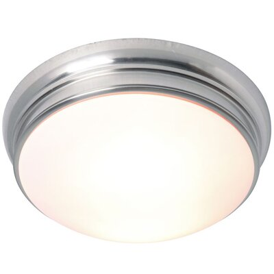 2-Light Flush Mount Finish: Satin Nickel, Size: Medium
