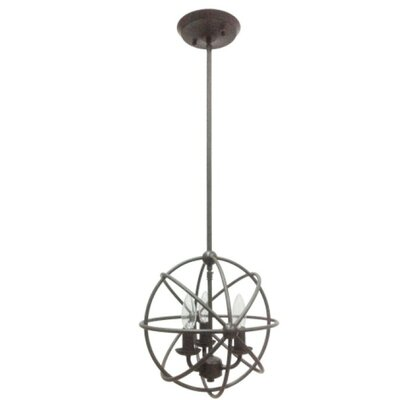 Industrial Orb 3-Light Foyer Pendant Finish: Urban Bronze