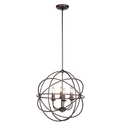 Industrial Orb 6-Light Foyer Pendant Finish: Urban Bronze