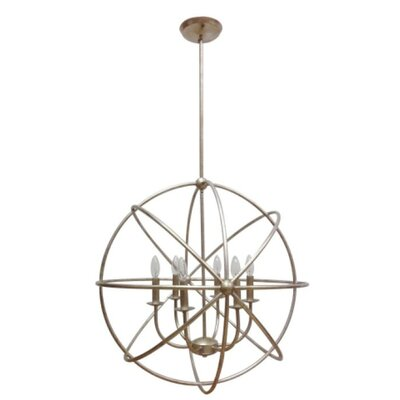Industrial Orb 6-Light Foyer Pendant Finish: Antique Silver