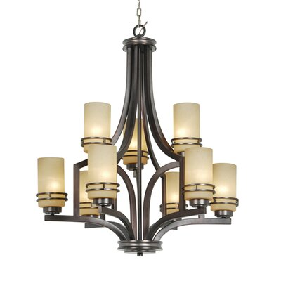 Uptown 9-Light Shaded Chandelier Finish: Bronze