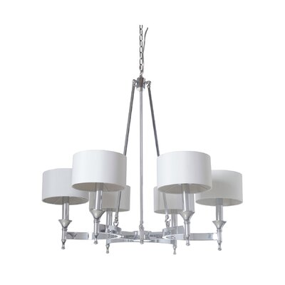 Pembroke 6-Light Drum Chandelier Finish: Chrome