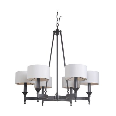 Pembroke 6-Light Drum Chandelier Finish: Urban Bronze