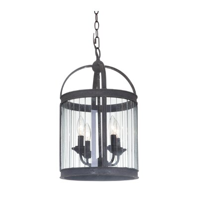 Wesley 4-Light Foyer Pendant Finish: Vintage Iron