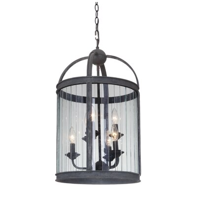 Wesley 6-Light Foyer Pendant Finish: Vintage Iron