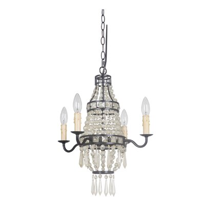 Bauble 4-Light Candle-Style Chandelier Finish: Amber