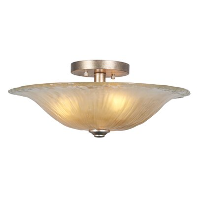 Saffron 3-Light Semi-Flush Mount