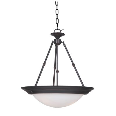 Orbit 3-Light Inverted Pendant Finish: Oil Rubbed Bronze
