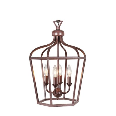 Cage 4-Light Wall Lantern Finish: Oil Rubbed Bronze