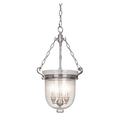 Cloche 3-Light Pendant Finish: Satin Nickel