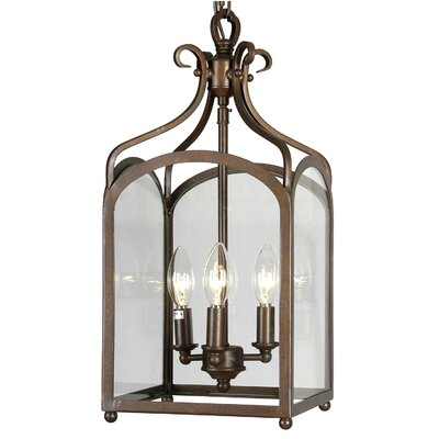 Stately 3-Light Foyer Pendant