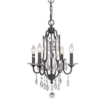 Adorned 4-Light Candle-Style Chandelier Finish: Aged Venezia
