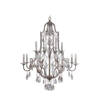 Adorned 12-Light Crystal Chandelier Finish: Vintage Champagne