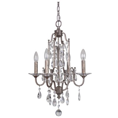 Adorned 4-Light Candle-Style Chandelier Finish: Vintage Champagne