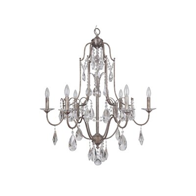 Adorned 6-Light Crystal Chandelier Finish: Vintage Champagne