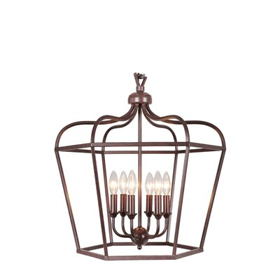 Cage 6-Light Pendant Finish: Oil Rubbed Bronze
