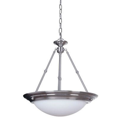 Orbit 3-Light Inverted Pendant Finish: Satin Nickel