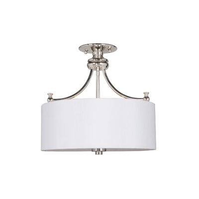 Metropolitan 3-Light Semi-Flush Mount