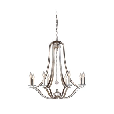 Crystal 8-Light Candle-Style Chandelier