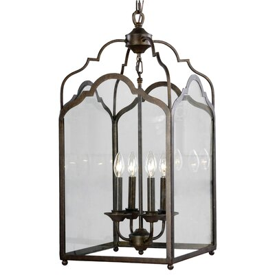 Stately 4-Light Foyer Pendant