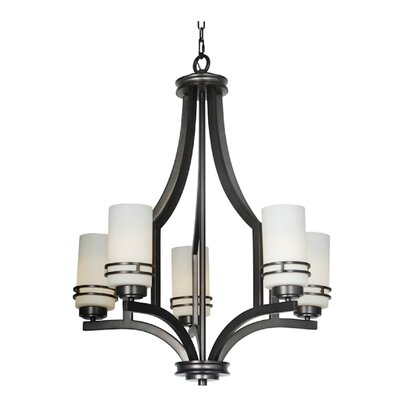 Uptown 5-Light Shaded Chandelier Finish: Nickel