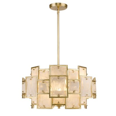 Kincannon 6-Light Drum Chandelier Finish: Gold