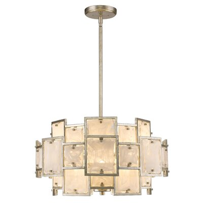 Kincannon 6-Light Drum Chandelier Finish: Silver