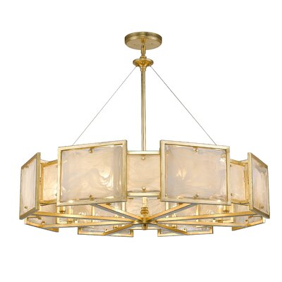 Kincannon 8-Light Drum Pendant Finish: Gold