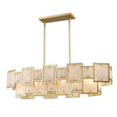 Kincannon 6-Light Kitchen Island Pendant Finish: Gold