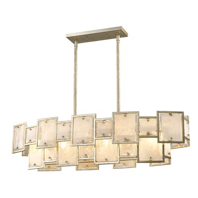 Kincannon 6-Light Kitchen Island Pendant Finish: Silver