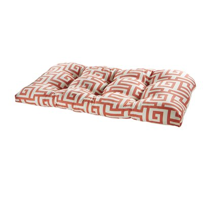 Terrasol Outdoor Sofa Cushion Fabric: Coral
