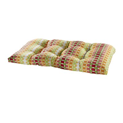 Terrasol Outdoor Loveseat Cushion Fabric: Citrus
