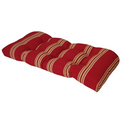 Terrasol Outdoor Sofa Cushion Fabric: Chili Pepper