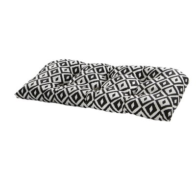 Terrasol Outdoor Sofa Cushion Fabric: Black