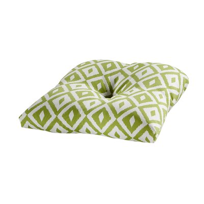 Terrasol Outdoor Dining Chair Cushion Fabric: Verde