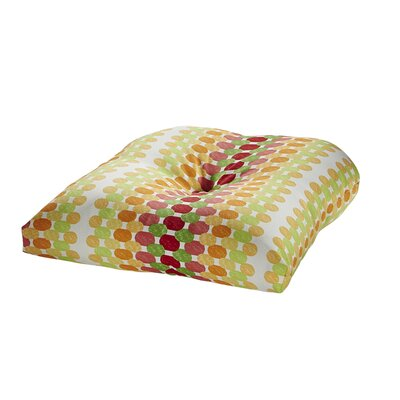 Image of Terrasol Outdoor Dining Chair Cushion Fabric: Citrus