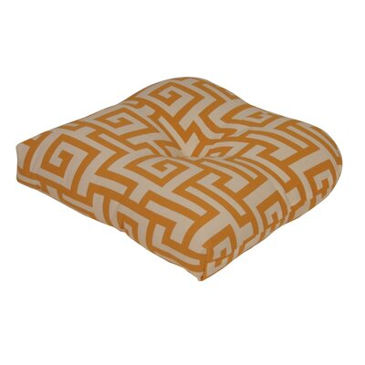 Terrasol Outdoor Dining Chair Cushion Fabric: Yellow