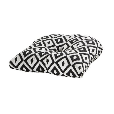 Terrasol Outdoor Dining Chair Cushion Fabric: Black