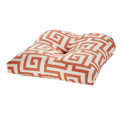 Terrasol Outdoor Dining Chair Cushion Fabric: Coral