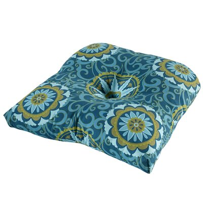 Terrasol Outdoor Dining Chair Cushion Fabric: Peacock