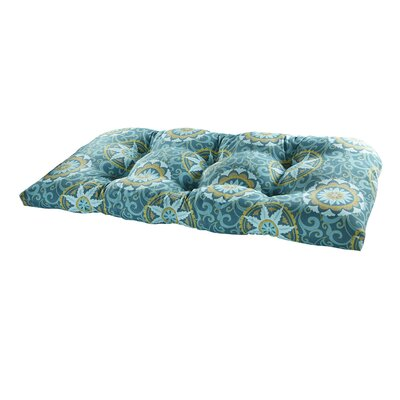 Terrasol Outdoor Settee Cushion Fabric: Peacock