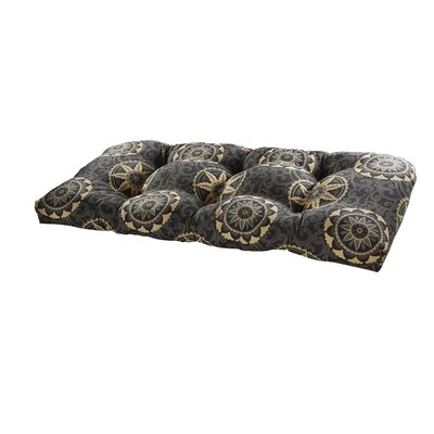 Terrasol Outdoor Settee Cushion Fabric: Black